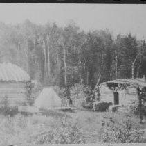 Image of 1405 - Lumber camp on Little Cauchon Lake.