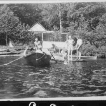 Image of 1950 - The smallest of the Baulke cottages.  Now near the middle of the waterfront of the eastern section of Rock Lake Campground.