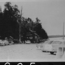 Image of 1546 - Old Portage Store and parking lot, Canoe Lake.