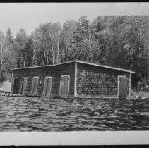 Image of 1548 - Boathouse at Camp Minnesing, Burnt Island Lake.