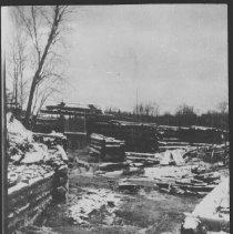 Image of 1756 - Log chute at Beaver Dam camp, near Lake St. Peter.
