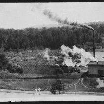 Image of 1770 - Tennis court and generator at the Highland Inn, Cache Lake