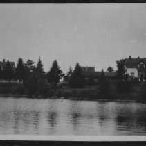 Image of 192- - Lands and Forests Headquarters and buildings at Cache Lake.