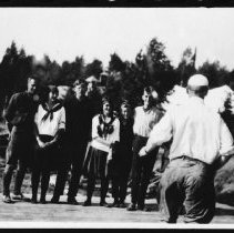 Image of 1808 - A joke on Couchie at Taylor Statten Camp.