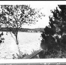 """Image of 1919 - Old Mowat Lodge from """"The Point"""", Canoe Lake."""