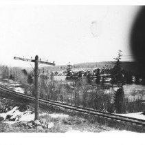 Image of 1883 - The railway line, near Whitney, along the Madawaska River.
