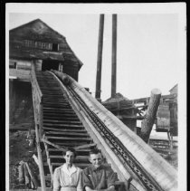 Image of 1948 - Mr. & Mrs. Harry Stubbs at Hay Lake Mill.