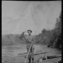 Image of 1976.36.12 - Last log drive on the Opeongo River.