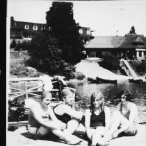 Image of 2342 - Bathers at the Highland Inn, Cache Lake.