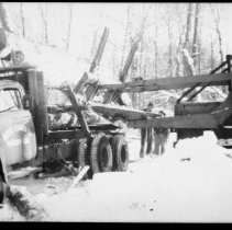 Image of 1976.26.1 - Logging near Lake Louisa.