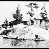 Image of 2389 - First cabin on McIntosh Lake.