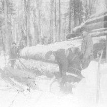 Image of 1975.1.6 - Skid of logs.