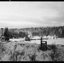 Image of 2595 - Old sawmill and bridge, Potter Creek.