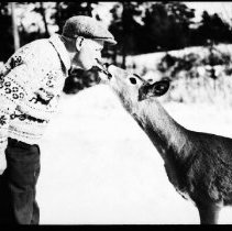Image of Superintendent and deer.