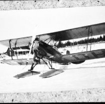 Image of Ministry Aircraft on the ice.