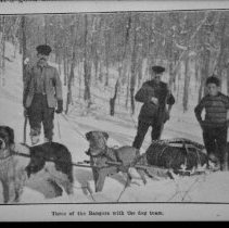 Image of 2661 - Three Park Rangers with dog team.