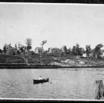 Image of Houses on hill, Brule Lake.