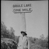 "Image of 2804 - ""Brule Lake One Mile"" sign."