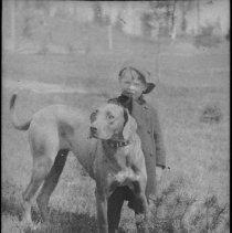 Image of 2886 - Hugh Colson and dog.