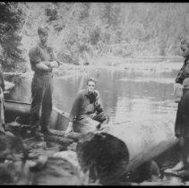 Image of 1909 - Portage at Little Otterslide Lake.