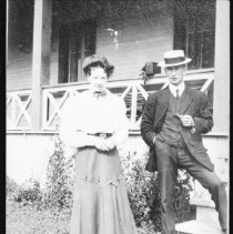 Image of 2891 - Molly and Ed Colson at the Highland Inn, Cache Lake.