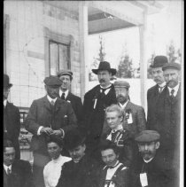 Image of 2904 - Group of people at Park Headquarters, Cache Lake.