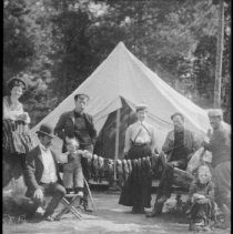 Image of 1976.43.59 - Campers with catch of fish.