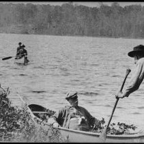 Image of 2983 - Mr. Archie Benn in a canoe.