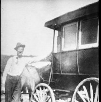 Image of 3010 - Shannon Fraser with his horse-drawn coach.