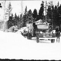 Image of 3228 - Logging truck on Algonquin's west side
