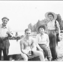 Image of 1942 - Nadon family at Radiant Lake