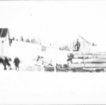 Image of 3653 - Logging Sleigh at Brule Lake