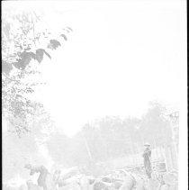 Image of 3658 - Cutting Away Log Jam, 1895
