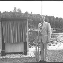 Image of 3760 - B. Napier Simpson at the Unveiling of Tom Thomson's Plaque