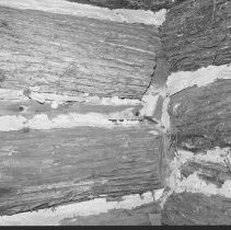 Image of 1977 - Detail of Log Construction at the Nominigan Lodge