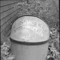 """Image of 3873 - Garbage Pail, With """"The Smoke Lake Nature Club"""" Marked on it"""