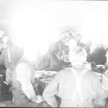 Image of 4030 - Interior of a Lumber Camp Dining Room