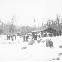 Image of c. 1908 - Lumber Camp, Huntsville Lumber Company