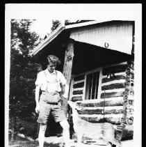 Image of Mary Northway and Fawn at the Nominigan Lodge