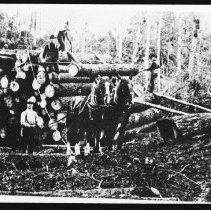 Image of 4086 - Piling Logs on a Skidway