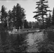 Image of 1977 - The Taylor Statten Barge at the Site of Nominigan Lodge