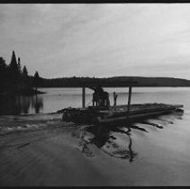 Image of 4184 - Three Trailers Loaded With Logs From Nominigan Lodge