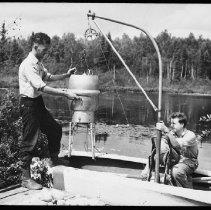 Image of 4252 - Julian Kenny Adjusts Pump Unit of the Plankton Sampler