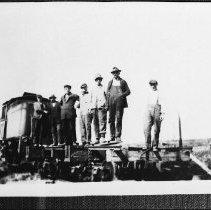 Image of 4302 - Shay locomotive and railway flatcar