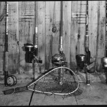 Image of 4370 - Rods and reels used for brook trout fishing.