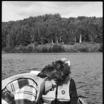 Image of 4394 - Lake survey crew measuring the dissolved oxygen content at various depths, 1977.