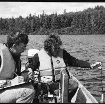 Image of 4399 - Lake survey crew at work.