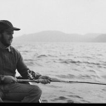 Image of 4408 - Fishing for lake trout, 1977.