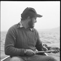 Image of 4410 - Fishing for lake trout, 1977.
