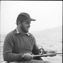 Image of 4411 - Fishing for lake trout, 1977.